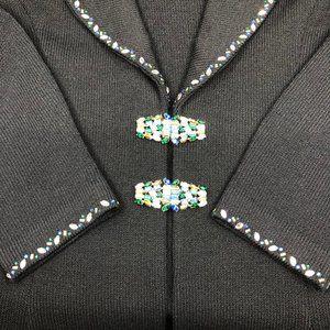 RARE St. John Evening Black Jacket with Swarovski